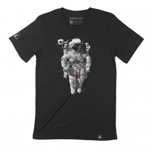 A black Unisex T-Shirt featuring the